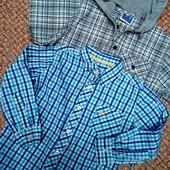 Классный лот √√ две красивые рубашечки в клетку ,100% хлопок,без нюансов.