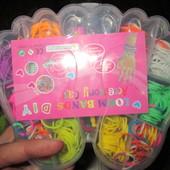 Детские наборы цветных резинок для плетения браслетов В лоте один