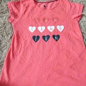 яскрава футболка для вашої  модниці розмір 110/116