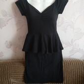 Стильное платьеце с баской от New look на худенькую✓Вискоза✓В идеале✓Много лотов✓