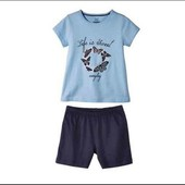 Летняя пижамка/костюм Lupilu на девочку 2-4 годика!