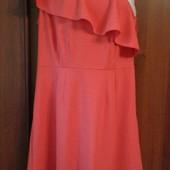 Фирменное новое красивое платье цвета лосося р. 12-14