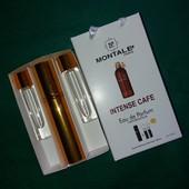 Подарочный набор парфюма Montale Intense Cafe - 3 х 15 мл.(+ 2 запасных флакона)