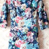 Супер лот! Платье из структурной ткани р.40 S/M хорошо тянется. Смотрите замеры!