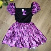 Красивое платье с кошечками, 2-4 г., см.замеры