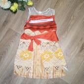 Платье принцессы Моаны, 3-5 лет, см.замеры. Состояние нового