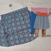 Отличная летняя юбка на девочку, 100% вискоза, Alive. Размер 128. Упаковка