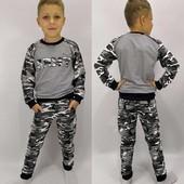 Классный костюм для мальчика двунить трикотаж, рост 122 см. Почти новый!