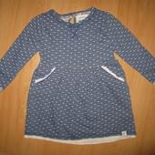 Отличное состояние!!Красивейшее платье из двунити!!3-4 г и р 98-104 см!!