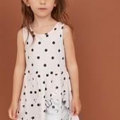 Стильный, летний хлопковый сарафан, платье, на девочку H&M, 110/116; 122/128; 134/140