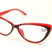 """Очков много не бывает!Новая коллекция!!Стильные имиджевые очки """"Кошечки"""" с диоптр. минус и плюс-"""