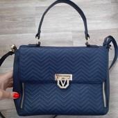 Продам сумку Valentino!Идеальная! Синяя 20/30см