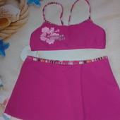 Купальный костюм (топ+ юбка) для девочки 140