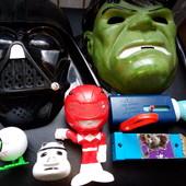 7 шт. Маски Marvel, игрушки супер герои Макдональдс Mcdonald's, Лот все что на фото, набор