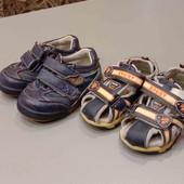 Кроссовки и сандалики на мальчика одним лотом. Размер 21. Стелька 11,5-12 см.