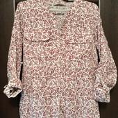 Фирменная новая льняная блуза-рубашка р.12-14