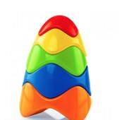 Новая красочная фирменная пирамидка, развивающая игрушка 18см. США оригинал!!! Можно на подарок!!!!