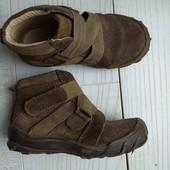 Натуральные замш+кожа ботинки, стелька 16см, идеальное состояние