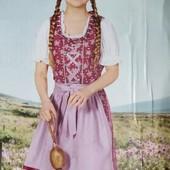 Оригинальный комплект платье, фартук и блузка на девочку Pepperts Германия размер 146