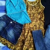 Лот из 5 ед: платье, джинсы, футболка, майка, юбка
