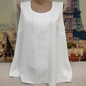 Белоснежная, лёгкая блуза, размер 2XL.