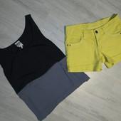Стильный Look на лето шорты+ легкая майка р.44 -S отличного сост.