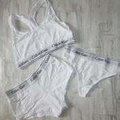 Женский комплект тройка белья шорты стринги топ