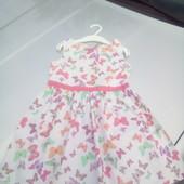 Стоп!!!фирменное красивое яркое натуральное нарядное платье от h&m платье