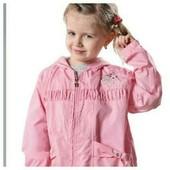 Новая! Красивая ветровка с капюшоном для девочки в двух цветах- р. 110,122