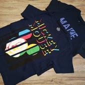 Германия! Коттоновые футболки на мальчика, 2 шт в лоте, размер 134-140 см.