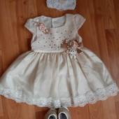 Красивое платье на рост 9-12 месяцев