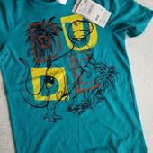 Фирменная футболка для мальчика, био коттон, размер 140