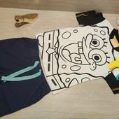 Германия!!! Симпатичный лот для мальчика! Коттоновая футболка 2А и Бермуды 86!