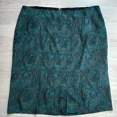 Красивая летняя шелковая юбка в состоянии новой вещи р.20-22