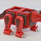 Магнитный конструктор Динозавр большой подарок Magformers с эффектами, На розетке от 600 грн!