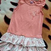 Фирменный сарафанчик для девочки 5-6 лет, замеры