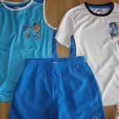 Крутой комплект тройка футболка+майка+шорты на лето для Вашего мальчика рост 134-140 8-10 лет