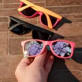 Детские зеркальные очки в стиле ray ban 3-8 лет, розовые