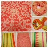 На выбор! Яркий палантин - шарф 190х76 см или Снуд двухцветный 100х80 см