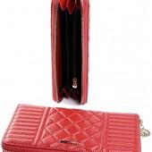 Красивый женский кожаный кошелек, 1шт., цвет на выбор!
