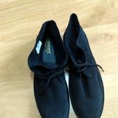Шикарні замшеві чоловічі короткі черевички на немаленьку ногу