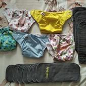 Многоразовие подгузники с вкладишами
