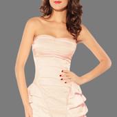 Нежное красивое персиковое короткое платье, новое