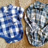 Одним лотом: Бодик Next до 4,5 кг+ рубашка-бодик Tu для малыша 6-9 мес.