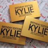 Набор (6 шт) матовых жидких помада Kylie Birthday Edition Фото реал