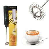 Миксер, блендер мини кофейный, молочный пенообразователь, электрический ручной нержавеющая сталь