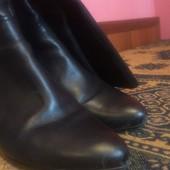 Кожаные осенние сапожки в очень хорошем состоянии на 41 размер. Фирма hogl.