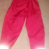 Брендовые тонкие штаны- плащевка в дождь.на 7-8лет