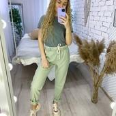 Легкие, стильные льняные брюки! 42р