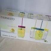 Ernesto Набор стеклянных баночек-стаканов 400мл * 4шт